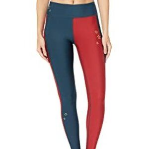 HURLEY NWT Quick Dry Surf Legging Red Blue Stars W